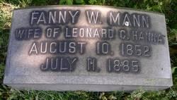 Fanny W <i>Mann</i> Hanna