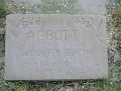 Wesley Snow Abbott