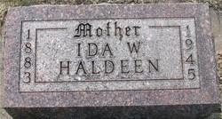 Ida Wilhelmina <i>Anderson</i> Haldeen