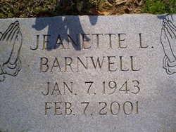 Jeanette <i>Lawson</i> Barnwell