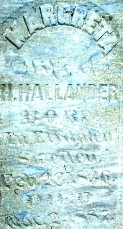 Margreta <i>Anderson</i> Hallander
