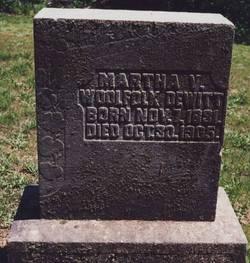 Martha Virginia <i>Booker</i> DeWitt