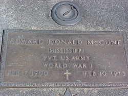 Pvt Edward Donald McCune