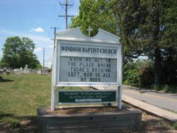 Windsor Baptist Church Cemetery