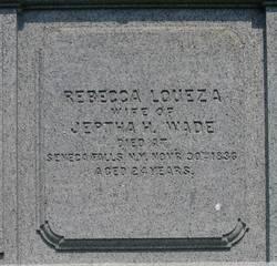 Rebecca Louiza <i>Facer</i> Wade