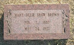 Mary Ollie <i>Shaw</i> Brown