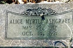 Alice Myrtle Ashcraft