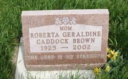 Roberta Geraldine <i>Caddock</i> Brown
