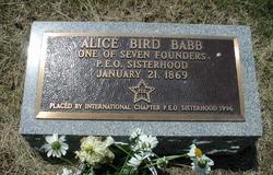 Mary Alice <i>Bird</i> Babb