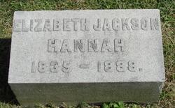 Elizabeth <i>Jackson</i> Hannah