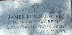 Lieut James M. Daughters