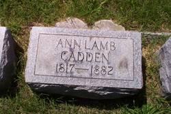 Ann <i>Lamb</i> Cadden