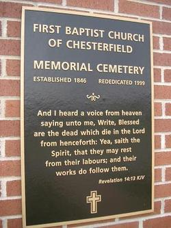First Baptist Church of Chesterfield Cemetery