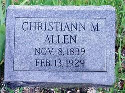 Christian Miller <i>Davis</i> Allen