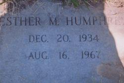 Esther M Humphrey