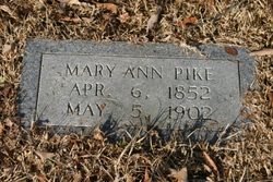 Mary Ann Phoebe <i>Johnson</i> Pike