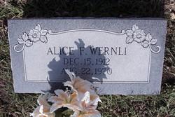 Alice F. Wernli