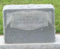 Myrtle May <i>Tackett</i> Allen
