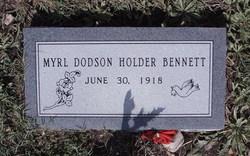 Jessie Myrl <i>Dodson</i> Bennett