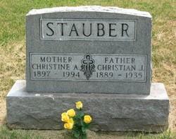Anna Christine <i>Simon</i> Stauber