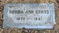 Rhoda Ann <i>Lutter</i> Cross