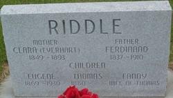 Clara <i>Everhart</i> Riddle