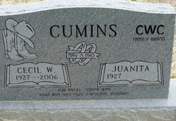 Cecil W Cumins