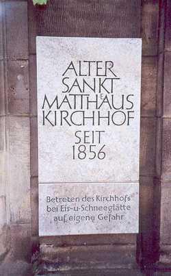 Alter St.-Matth�us-Kirchhof