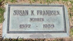 Susan Keziah Susie <i>Stewart</i> Frandsen