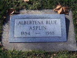 Albertena <i>Blue</i> Asplin