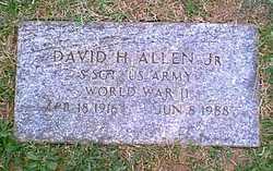 Sgt David Hume Allen, Jr