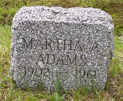 Martha A. <i>Emery</i> Adams
