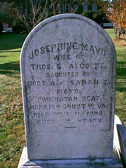 Josephine H <i>Mayo</i> Alcocke