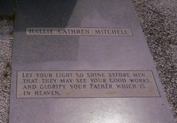 Hallie Cathren <i>Mitchell</i> Bedell