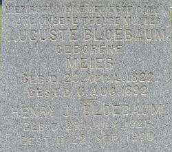 Auguste Wilmina <i>Meier</i> Bloebaum