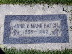 Annie Elizabeth Lizzie <i>Mann</i> Hatch