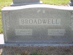Geneva Ann Jennie <i>Edwards</i> Broadwell