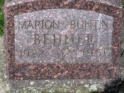Mary Louise Marion <i>Buntin</i> Behmer