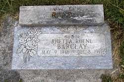 Rhetta Roene <i>Winters</i> Barclay