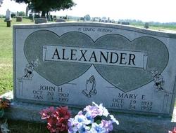 Mary E <i>Cook</i> Alexander