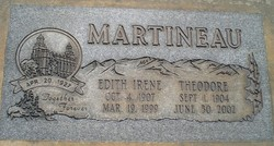 Edith Irene <i>Earl</i> Martineau