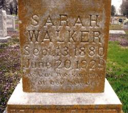 Sarah Bradford <i>Ward</i> Walker