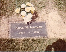 Alice W <i>Armstrong</i> Solomon