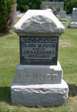 Clara M. <i>Haines</i> Dixon