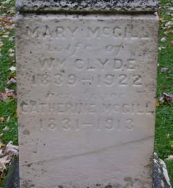 Mary <i>McGill</i> Clyde