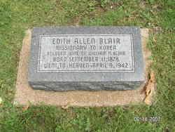 Edith Perl <i>Allen</i> Blair