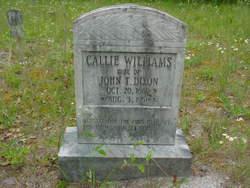 Callie <i>Williams</i> Dixon