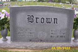 Alice <i>Garner</i> Brown