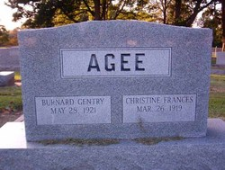 Burnard Gentry Agee