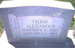 Fronie Alexander